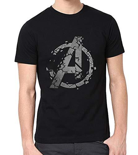 Avengers Endgame Distressed Graphic Shirt - Mens Adult Casual Black Tshirt (XL)