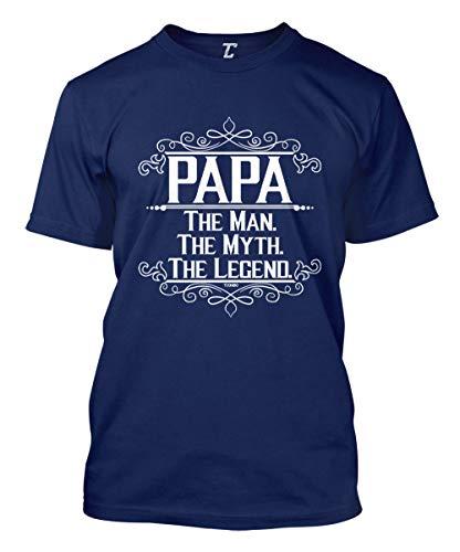 Papa The Man, The Myth, The Legend Men's T-Shirt (Navy, X-Large)