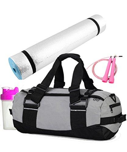 Yogaaddict Yoga Mat Towel Hand Towel Combo Set 100: Complete Set-Deluxe Mat,Block,Canvas Bag, 6' Strap(Loop