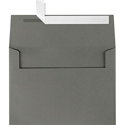 A4 Invitation Envelopes (4 1/4 x 6 1/4) - Smoke Gray (500 Qty.) by LUXPaper