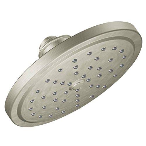 Moen S176BN Solace One-Function 7-Inch Diameter Rain Showerhead, Brushed Nickel