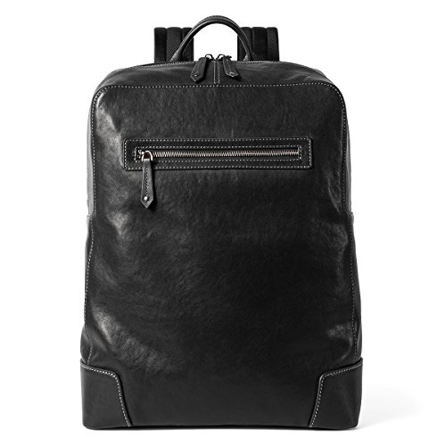 Sharkborough The Signature Entrepreneur Men's Backpack Genuine Leather for Casual Daypacks (Best Laptop For Entrepreneurs)
