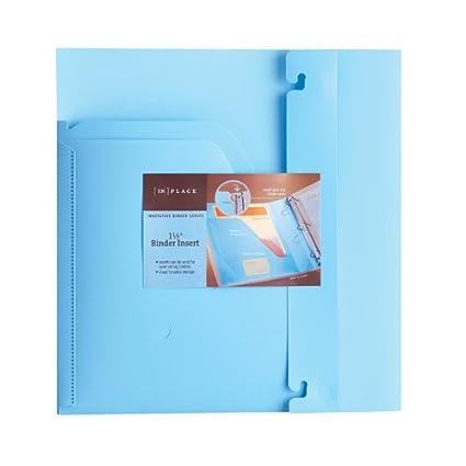 amazon com in place innovative binder inserts 1 5 light blue