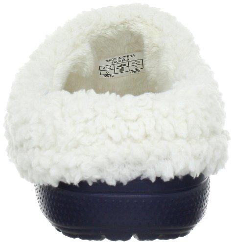 crocs Mammoth Core Full Collar 12878-55V-160 - Zuecos unisex Blu (Navy/Oatmeal)