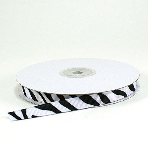 Zebra Print Grosgrain Ribbons 3/8