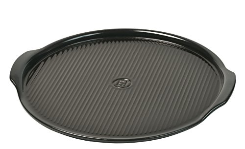 Emile Henry Made In France Flame Pizza Stone, 14.6 x 14.6', Charcoal