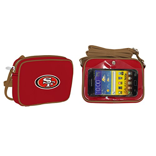 NFL San Francisco 49ers Fashion Style Crossbody Purse- Embroidered Logo (Fashion Nfl)