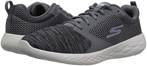 Trainers Sports Mesh Womens Charcoal blue Run Go Up Lace 600 Skechers q8HdI0znz