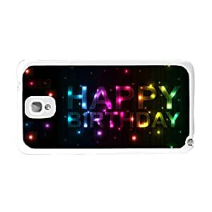 Hard Protective Plastic Samsung Case Cover for Samsung Galaxy Note 3 N9005 Glitter Sparkle Colorful Phone Case Skin (colorful monogram BY659)