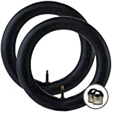 2 x BUGABOO FROG Stroller/Pushchair Inner Tubes - 12'' / 12 1/2'' - Straight/Auto Valve + Upgraded ''Intertube'' branded chrome valve caps FREE! (Worth $3.99) + FREE SHIPPING!