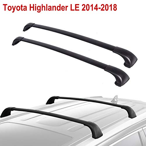 - ALAVENTE Roof Rack Cross Bars Compatible for Toyota Highlander LE 2014 2015 2016 2017 2018