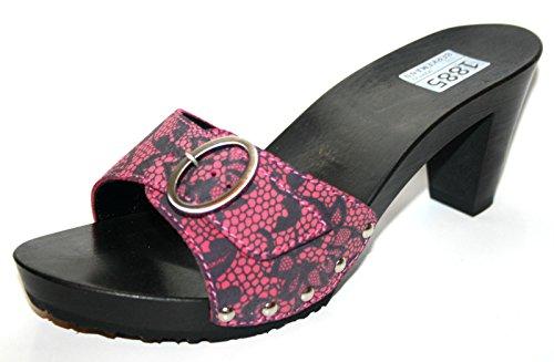 Berkemann - Pantuflas Mujer Negro - rosa