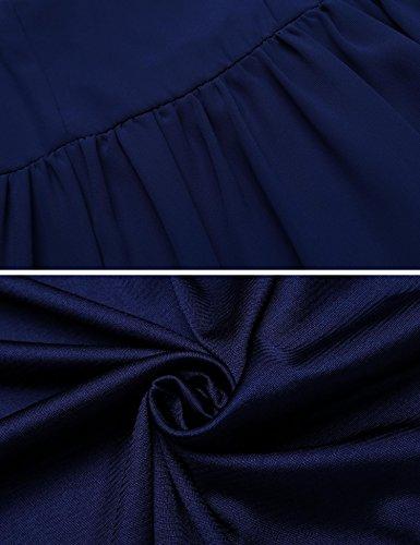 Trapze Meaneor Robe Robe Trapze Femme Femme Bleu Meaneor 8wqZExxn6