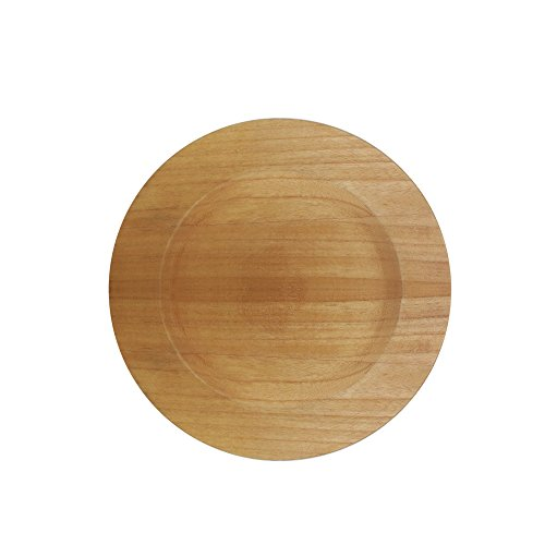 ChargeIt by Jay 1330477 Paulownia Charger Plate, Brown
