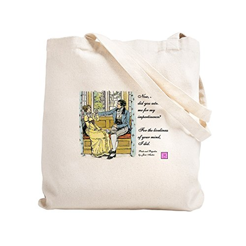 CafePress Bennetgirls Jane Austen Two-Sided Natural Canvas Tote Bag, Cloth Shopping Bag