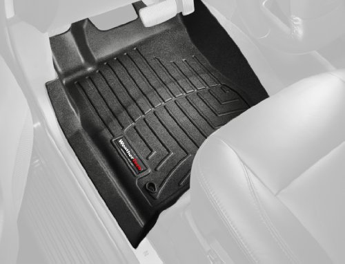 WeatherTech Custom Fit Front FloorLiner for Toyota Yaris/Scion xD (Black) (2010 Scion Xd Weathertech compare prices)