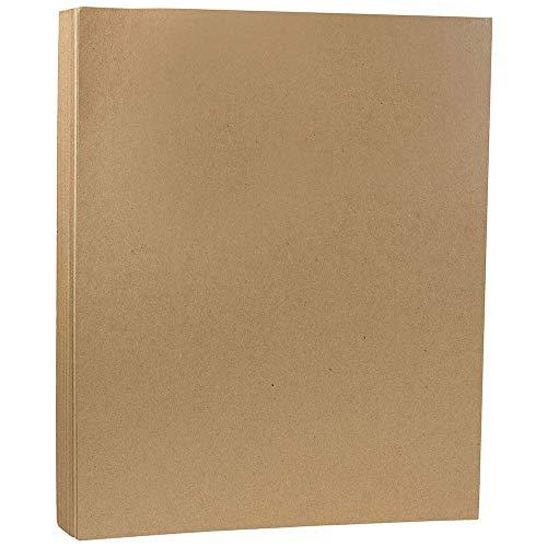 JAM PAPER Matte 60lb Cardstock - 8.5 x 11 Letter Coverstock - Brown Kraft PaperBag - 50 Sheets/Pack ()