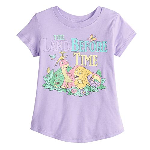 Jumping Beans Little Girls' Toddler 2T-5T Dino Friends Land Before TIME Tee 5T LT ()