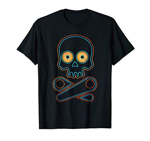 Classic Retro Pinball T-shirt - Pinball Skull Halloween Gift