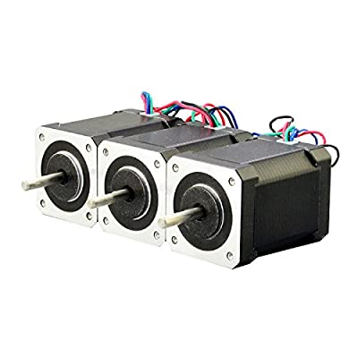 3pcs Nema 17 Bipolar Stepper Motor Kit 92oz.in 2.1a 4-lead 60mm Hobby CNC