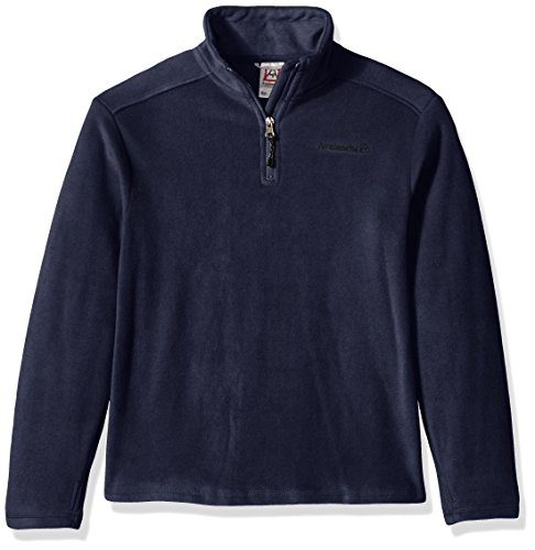 Boys Quarter Zip Sweater (Avalanche Big Boys' Quarter Zip Fleece Pullover, Indigo, 14/16)