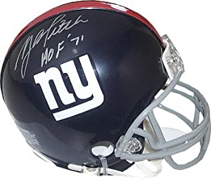 Athlon CTBL-a17157 YA Tittle Signed New York Giants TB Riddell Mini Helmet HOF 1971
