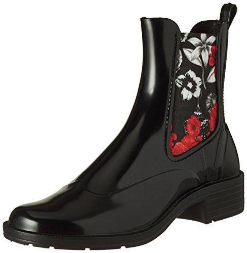 Nero Boot Mid Bn Rain Desigual Negro Stivali Chelsea Donna amp;Red Shoes tzxqFT7a