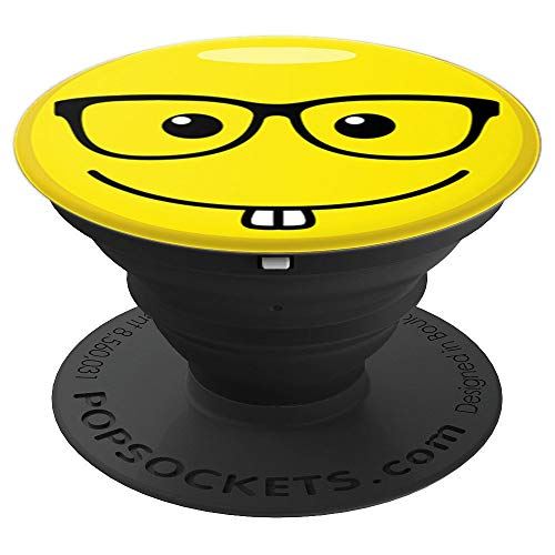 Nerd Emoji Phone Grip Sunglasses Funny Halloween Phone Grip - PopSockets Grip and Stand for Phones and Tablets]()