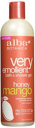 Alba Botanica Very Emollient Bath & Shower Gel - Honey Mango 12 fl oz (350 ml) Gel