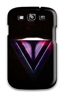 IJVPlXC566cqstw Case Cover Reverted Purple Triangle Galaxy S3 Protective Case