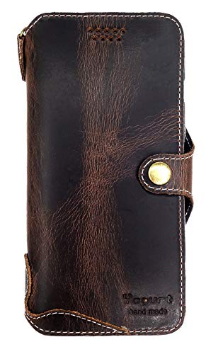 - Yogurt for iPhone 8 Plus/ 7 Plus Genuine Leather Wallet Cases Cover Handmade Oil Leather