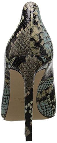 Bomba vestido sintético Nine West Tatiana Taupe/Blue Reptile Pattern