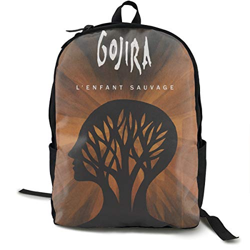 MDECTTHY Gojira - L' Enfant Sauvage Backpack Unisex Printing Travel Laptop Backpacks Hiking College School Computer Bookbag for Women Men