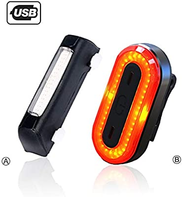 MTXD Faro Trasero Bici, luz de Bicicleta Trasera de Seguridad LED ...