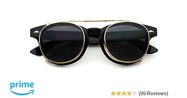 73a0d56d83d Amazon.com  Fashion Vintage Clip On Lens Retro Sunglasses  Clothing