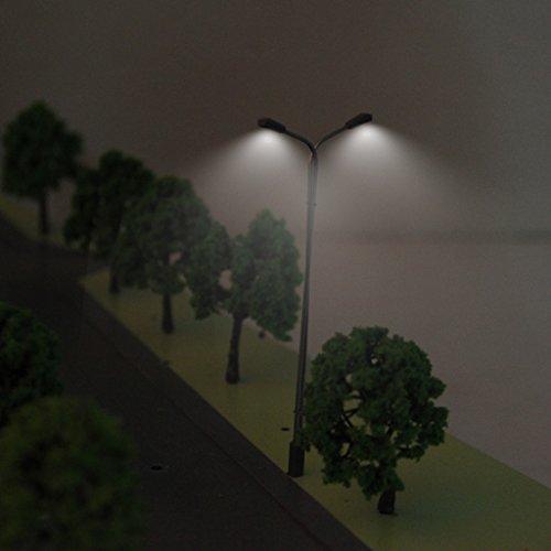 F Fityle ミニ モデル街灯 街灯柱 鉄道模型 鋼管製街灯A―150 1:150 約10個セット