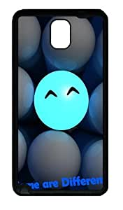 3D Ball Smiling Faces Some Are Different Custom Designer Samsung Galaxy Note 3 / Note III/ N9000 - TPU - Black