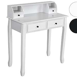 Miadomodo - Tocador escritorio de estilo romántico con 4 cajones en color blanco – diferentes colores a elegir