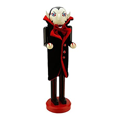 Northlight Black and Red Dracula Vampire Decorative Wooden Halloween Nutcracker, 14""