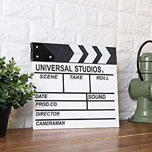 WLWWY Movie Director Clapper Board, Making Photography Props, Personality Decoration Hanging 30 27Cm,White by WLWWY