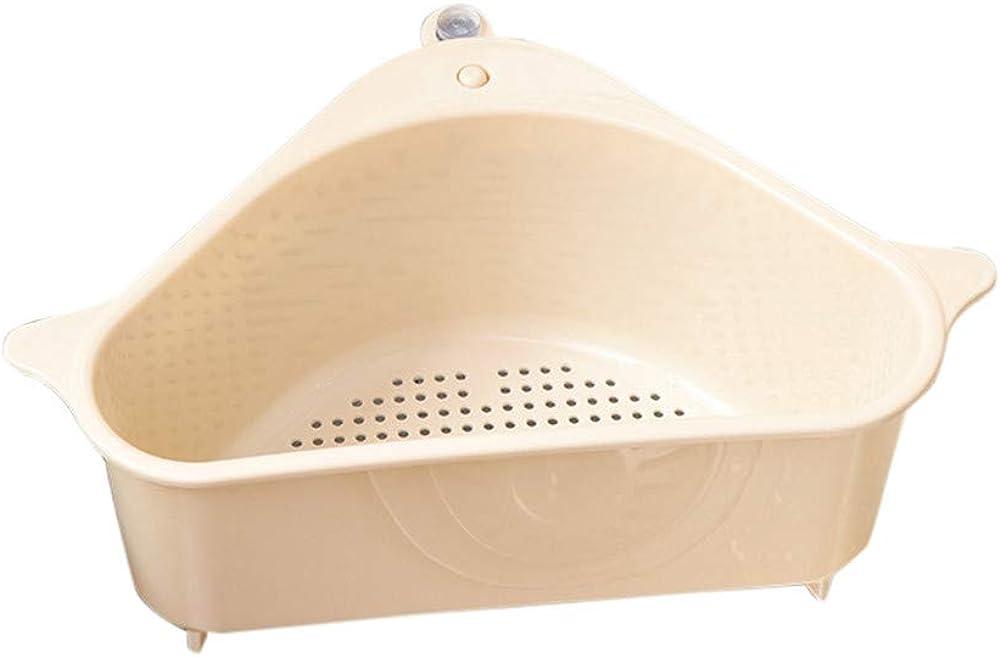 SADUORHAPPY Kitchen Sink Holder, Sponge Holder, Sink Caddy Kitchen Liquid Drainer Rack Multifunctional Triangle Shelf