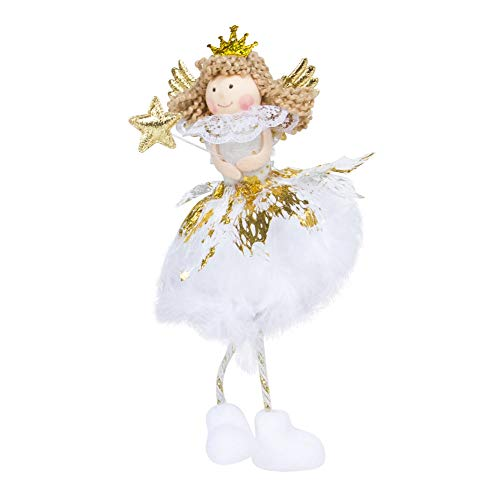 Novobey Sitting Angel Doll Christmas Desk Ornaments New Year's Gifts for Children