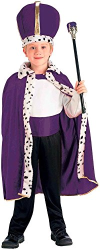 Purple King Robe and Crown Child Costume