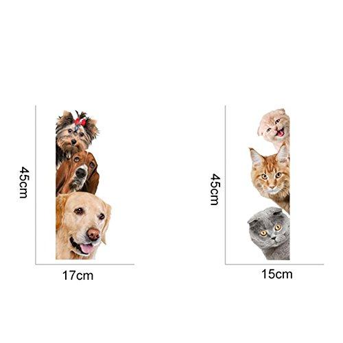 Removable 3d Cute Dog Cat Wall Sticker Switch Decal Mural Art Decor