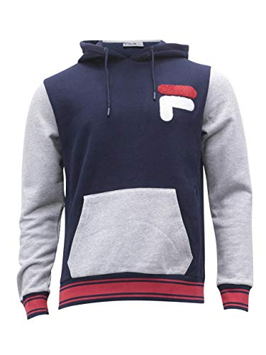 Fila Men's Champ Hoodie Peacoat/Heather Grey/Chinese Red M