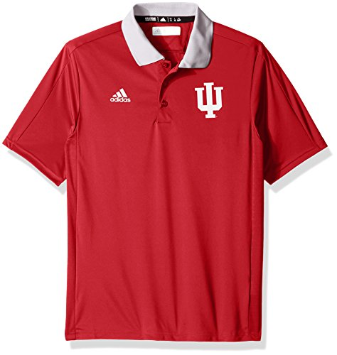 adidas NCAA Indiana Hoosiers Adult Men NCAA Sideline Coaches Polo, Small, Victory (Coaches Sideline Polo)