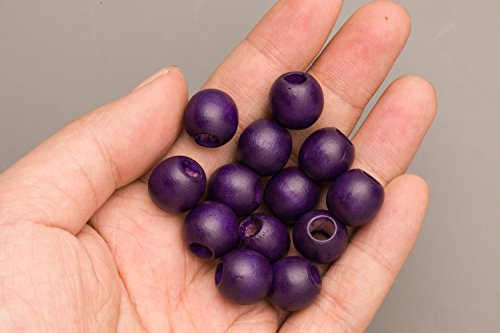 Purple Wood Beads Round 14mm Sold Per Pkg Of 50 Beads