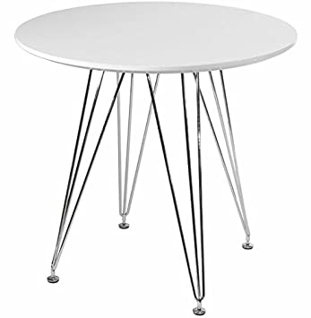 Mod Made Mid Century Modern Paris Tower Round Table Bistro Table, White