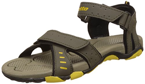 Lotto Men's Grey Maroon Sandals and Floaters