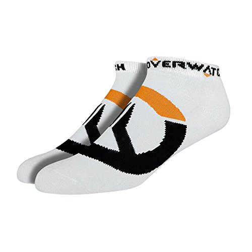 Jinx Overwatch Logo Ankle Socks  3 Pack   White  One Size